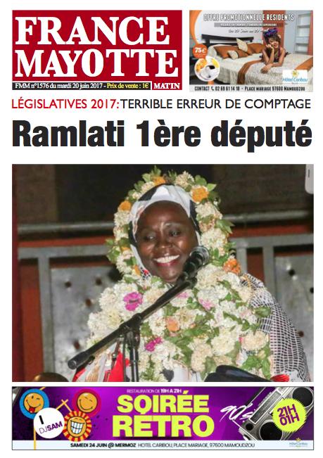 France Mayotte Mardi 20 juin 2017