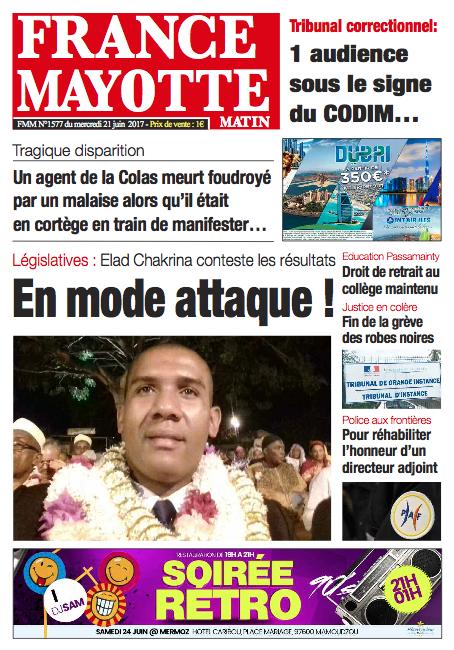 France Mayotte Mercredi 21 juin 2017