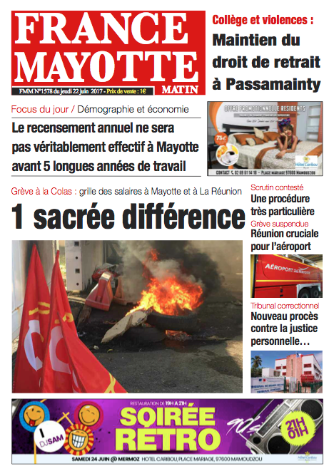 France Mayotte Jeudi 22 juin 2017