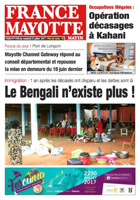 France Mayotte Vendredi 21 juillet 2017