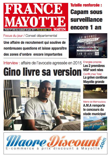France Mayotte Vendredi 18 août 2017