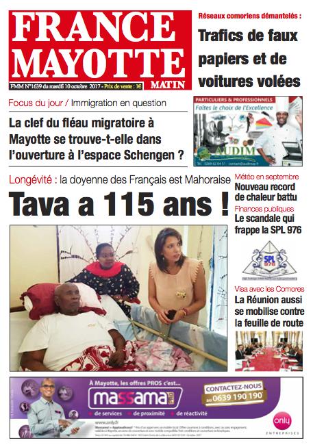 France Mayotte Mardi 10 octobre 2017