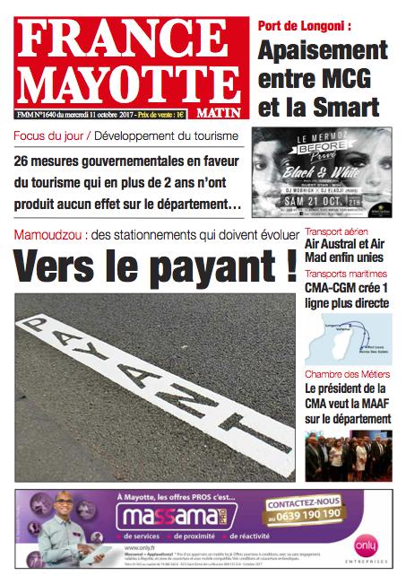 France Mayotte Mercredi 11 octobre 2017