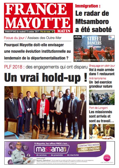 France Mayotte Vendredi 13 octobre 2017