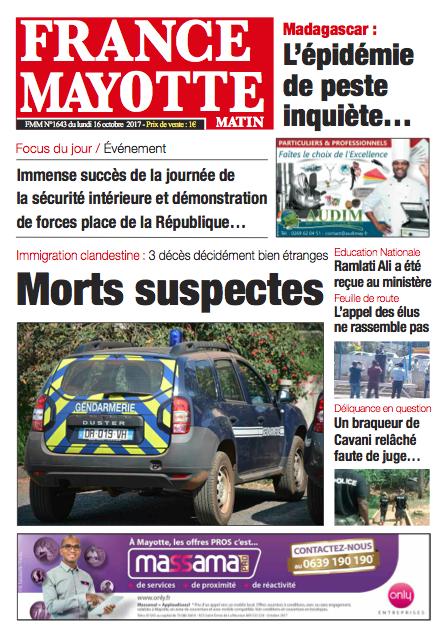 France Mayotte Lundi 16 octobre 2017