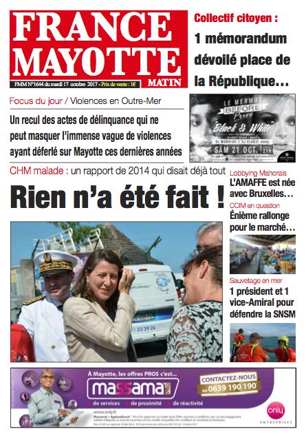 France Mayotte Mardi 17 octobre 2017