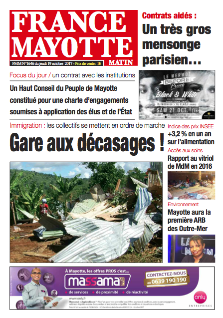 France Mayotte Jeudi 19 octobre 2017