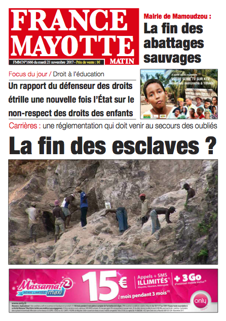 France Mayotte Mardi 21 novembre 2017
