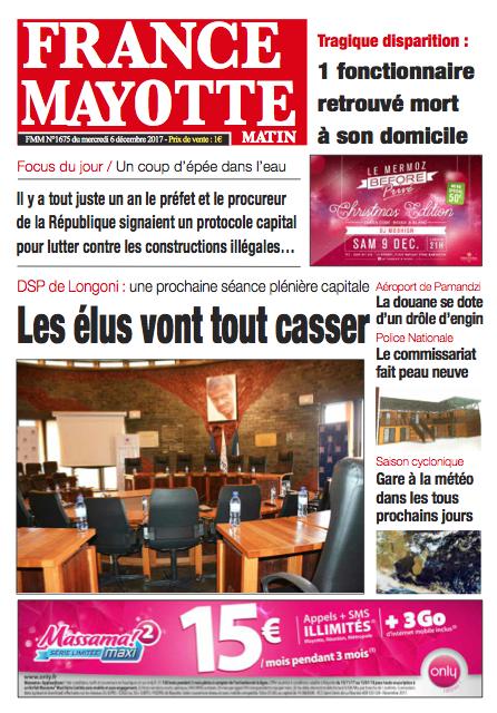 France Mayotte Mercredi 6 décembre 2017