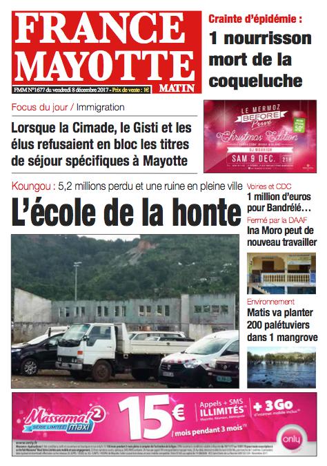 France Mayotte Vendredi 8 décembre 2017