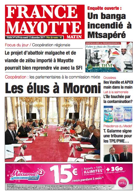 France Mayotte Mardi 12 décembre 2017