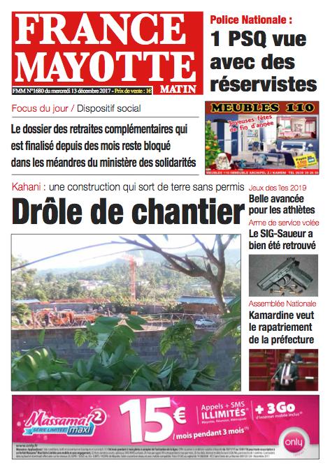 France Mayotte Mercredi 13 décembre 2017