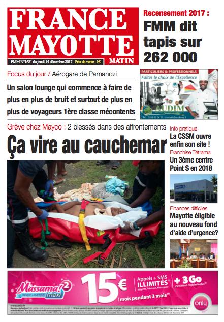 France Mayotte Jeudi 14 décembre 2017