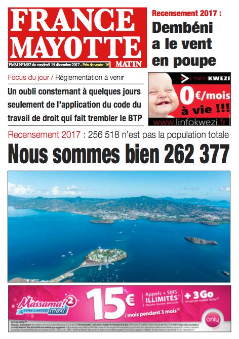 France Mayotte Vendredi 15 décembre 2017