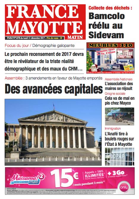 France Mayotte Lundi 11 décembre 2017