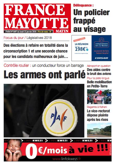France Mayotte Lundi 22 janvier 2018