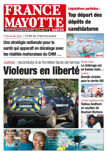 France Mayotte Lundi 19 février 2018