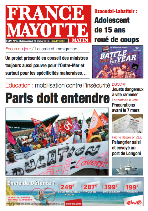 France Mayotte Mercredi 21 février 2018
