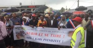 Les images de la grande marche du jour dans les rues de Mamoudzou