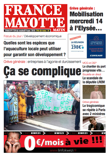 France Mayotte Vendredi 9 mars 2018