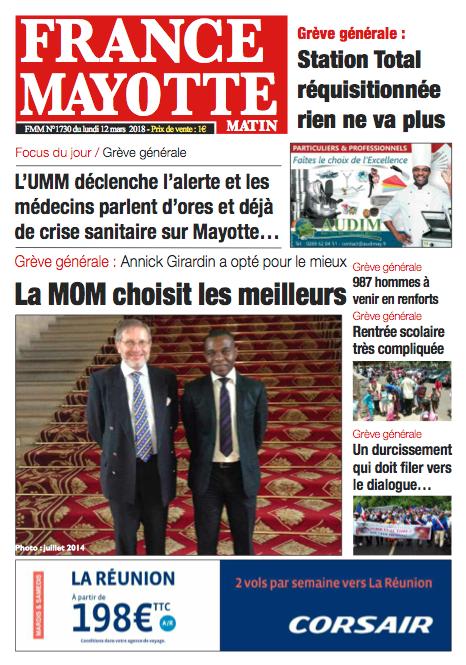 France Mayotte Lundi 12 mars 2018