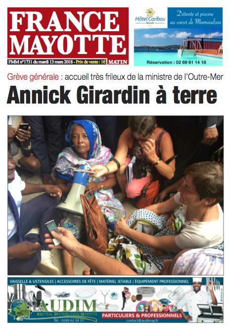 France Mayotte Mardi 13 mars 2018