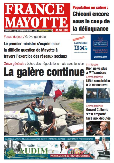 France Mayotte Vendredi 16 mars 2018