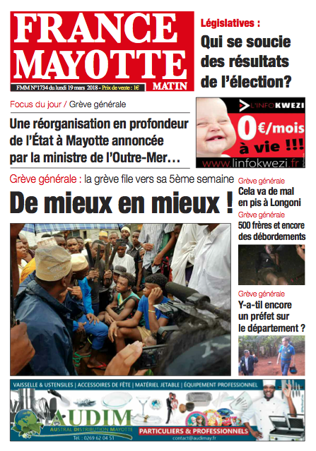 France Mayotte Lundi 19 mars 2018