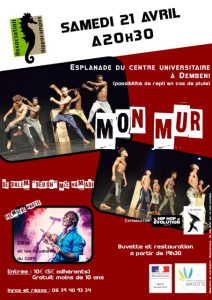 Spectacle « Mon Mur » Samedi 21 avril au CUFR à Dembéni (photos)