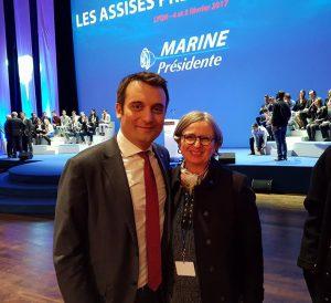 Florian Philippot et Mireille d'Ornano en visite à Mayotte ce mercredi 11 avril
