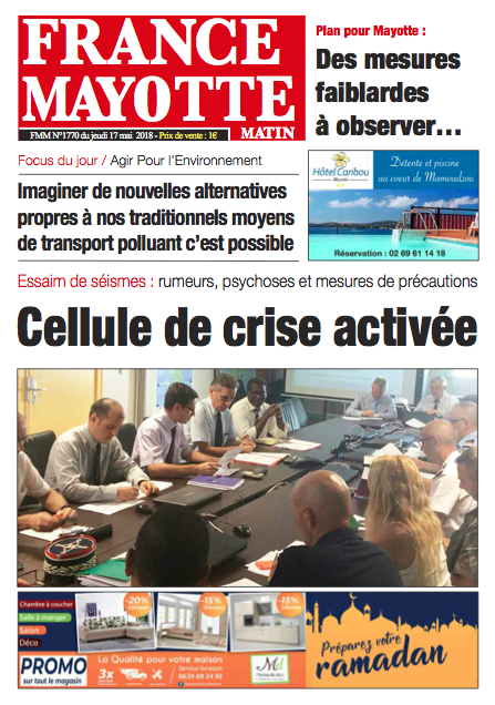 France Mayotte Jeudi 17 mai 2018