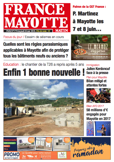 France Mayotte Jeudi 24 mai 2018