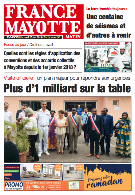 France Mayotte Mardi 15 mai 2018