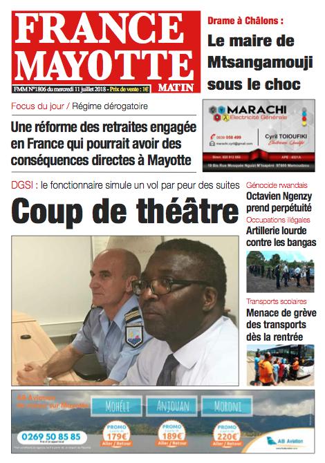 France Mayotte Mercredi 11 juillet 2018