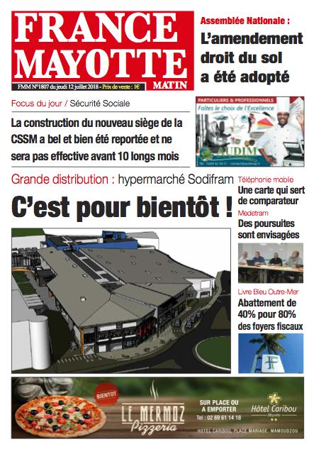 France Mayotte Jeudi 12 juillet 2018