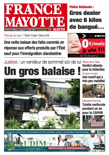 France Mayotte Vendredi 13 juillet 2018