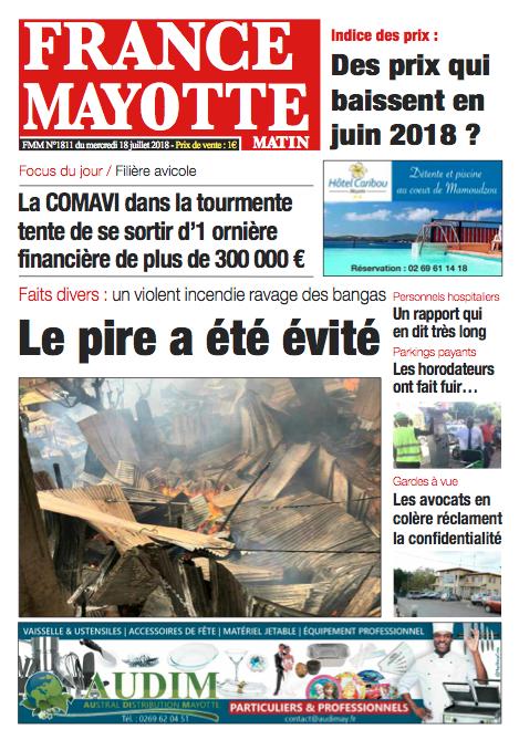 France Mayotte Mercredi 18 juillet 2018