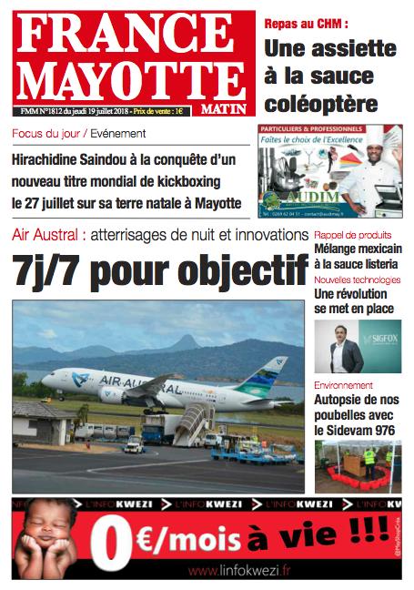 France Mayotte Jeudi 19 juillet 2018