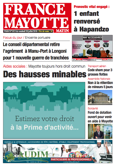 France Mayotte Vendredi 20 juillet 2018