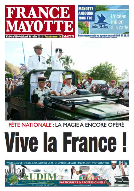 France Mayotte Lundi 16 juillet 2018