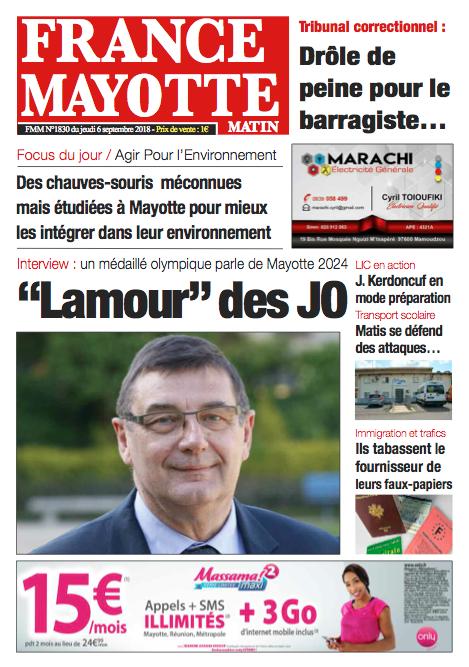 France Mayotte Jeudi 6 septembre 2018