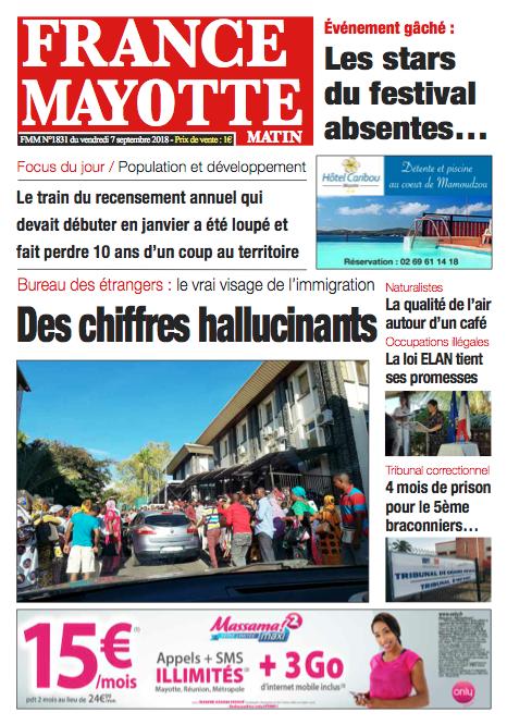 France Mayotte Vendredi 7 septembre 2018