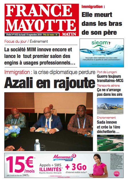 France Mayotte Lundi 10 septembre 2018