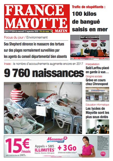 France Mayotte Mercredi 12 septembre 2018