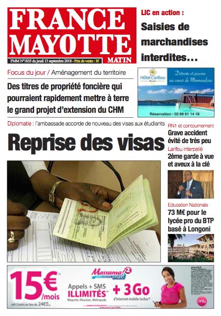 France Mayotte Jeudi 13 septembre 2018