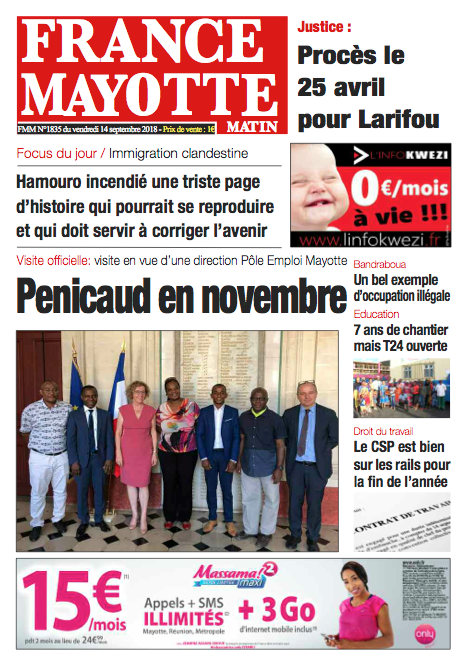 France Mayotte Vendredi 14 septembre 2018