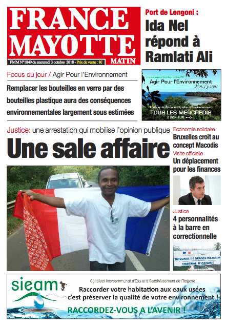 France Mayotte Mercredi 3 octobre 2018