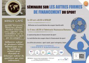 Atelier réflexion sur la contribution des usagers dans le financement du sport à Mayotte