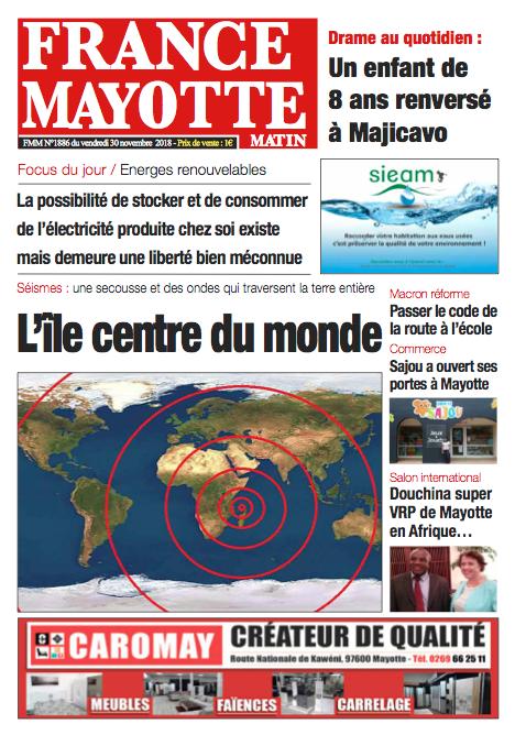 France Mayotte Vendredi 30 novembre 2018