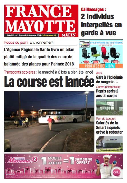 France Mayotte Mardi 11 décembre 2018